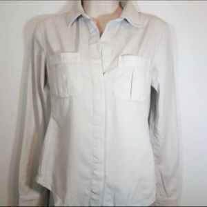 James Perse 1 button front shirt